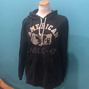 AE black hoodie size large
